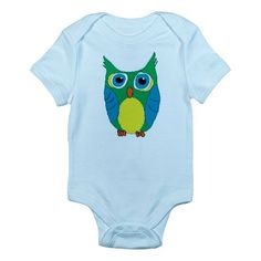 This cartoon owl design is by WondrousCre8tions. This is our cartoon owl onesie...Enjoy =)