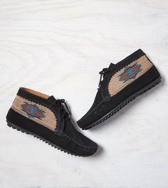 Black Minnetonka El Paso Ankle Bootie