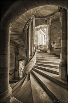 500px / Photo Spiral stairs Blois castle by Andrea AnZanov Zanovello
