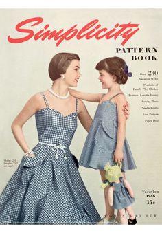 Simplicity vintage 1950 s poster Gingham Klänning 80113d1a09dda