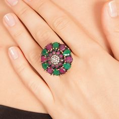 The Zerbap Azerin Ring with Zircon Emerald Ruby by Rosestyle, $49.50
