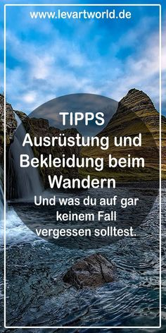 Packing list and tips on equipment and clothing for hiking-Packliste und Tipps zu Ausrüstung & Bekleidung beim Wandern Tips clothing and equipment for hiking and what you should definitely not forget - Backpacking Tips, Hiking Tips, Hiking Gear, Hiking Boots, Camping Checklist, Camping Hacks, Camping Survival, Camping Gear, Outdoor Reisen