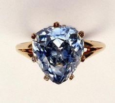Antique fancy-cut ring, the blue-grey diamond weighing 5.45 carats, once owned by Marie-Antoinette  Diamond Is A Girl Best Friend