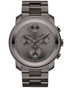Movado Men's Swiss Chronograph Bold Gunmetal Ion-Plated Stainless Steel Bracelet Watch 44mm 3600277 - Watches - Jewelry & Watches - Macy's