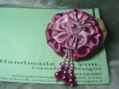 Beaded YOYO Flower Brooch by Joanah V Designs, via Flickr
