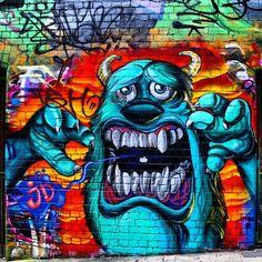 Hosier Lane | Monsters Inc, Street art and Graffiti