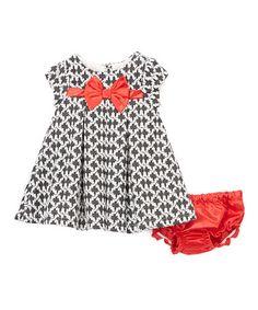 Look at this #zulilyfind! Black & Red Lattice Dress & Diaper Cover - Infant & Toddler #zulilyfinds