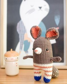 Rocco Chinchilla. Pattern by Pica Pau for  @dmcspain