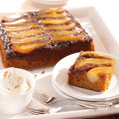 Pumpkin, pears, ginger and spices come together in this fantastic fall cake. To make it extra special, use pears grown in the Northwest.