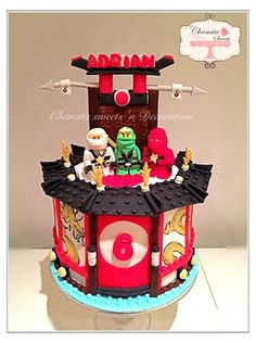 Ninjago cake - Cake by Chanatasweets Lego Ninjago Cake, Ninjago Party, Superhero Cake, Ninja Birthday, Girl Birthday, Birthday Ideas, Fig Cake, Rhubarb Cake, Salty Cake