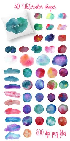Complet Watercolor Textures Kit