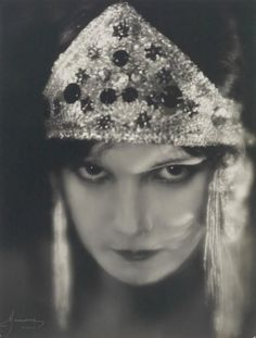 Atelier Manassé (Austrian, Title: Die Tänzerin Maria Salvotti , ca. Nude Photography, Portrait Photography, Headdress, Headpiece, Pin Up, Silent Film Stars, Roaring Twenties, Vintage Beauty, Vintage Glam