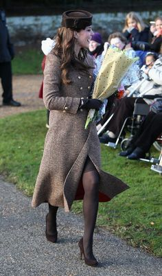 Kate Middleton (and her bump!) step out on Christmas Day