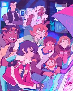 game night<< CORRAN OMG Keith vs Lance and they draw and then everyone is like ooooooohhhhh