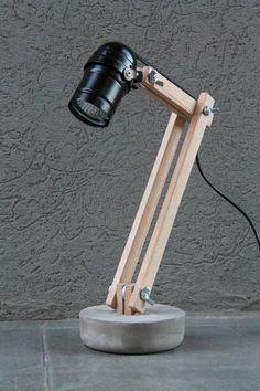 This kind of lava lamp can be an inspiring and superior idea Desk Light, Lamp Light, Desk Lamp, Table Lamp, Diy Garden Furniture, Concrete Lamp, Ideias Diy, Concrete Projects, Luminaire Design