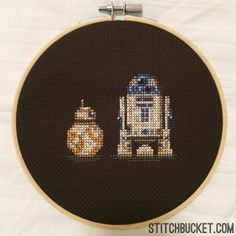 BB-8 Ball Droid and R2-D2 Star Wars Cross Stitch Pattern - Instant Download PDF by StitchBucket on Etsy https://www.etsy.com/listing/243316777/bb-8-ball-droid-and-r2-d2-star-wars