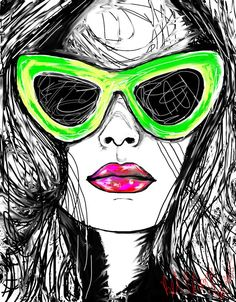 Vendetta and Green Sunnies by BelArtandStyle on Etsy