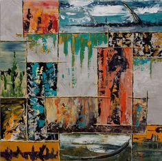 053-sanjose.jpg - Schilderij,  80x80 cm ©2014 door Jean-Humbert Savoldelli -                        Abstracte kunst