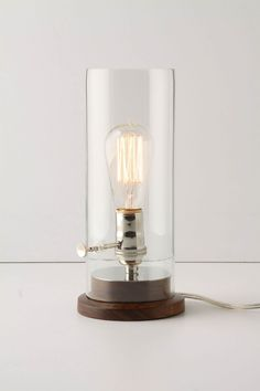 I think you could make something similar at home.  Menlo Lamp - Anthropologie.com $148
