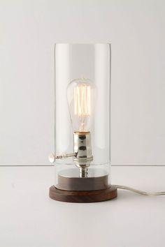 I think you could make something similar at home.  Menlo Lamp - Anthropologie.com $148