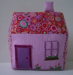 Fabric Play House. Let your kids' imaginations run wild with this Fabric Play House. This free toy sewing pattern is safe for younger tots and will keep them busy for hours. To make this kids sewing pattern look extra cute you can hand-stitch a window and flowers. #sewing