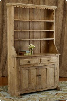 Arles Pine Cupboard with scallop detail