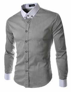 TheLees (DST6) Mens Casual Slim Fit 2 Tone Dress Shirts Gray Medium(US Small) TheLees,http://www.amazon.com/dp/B00AWA4SJ2/ref=cm_sw_r_pi_dp_V7pktb1QESP8RFW8