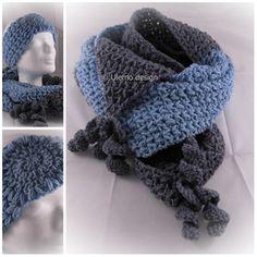 Schal und  Stirnband Set - Merino-Wolle- Ulemo design -