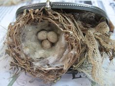 I love these old coin purses and they   are great for my little hand made nests.   This time when I made one, I took pics   so you ...