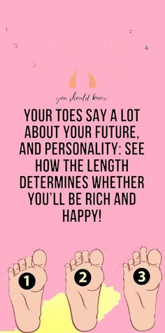 Do you have small or large toes? Did you know that they can tell you a lot about your personality as well as your future? Remedies For Nausea, Reduce Thigh Fat, Healthy Skin Care, Natural Health Remedies, Did You Know, Knowing You, Healthy Lifestyle, Exercises, Personality