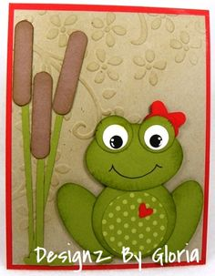 Ms. Froggy Punch Art, and made into a card!  Stampin' Up!