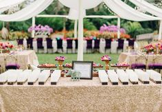 escort card table | Justin and Mary | blog.theknot.com