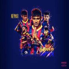 Neymar, Barcelona, FCB, sport, illustrations, poster, design, football, graphic, social, AREDI, #sportaredi