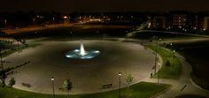 Biassono, Parco Urbano - Piazza di notte