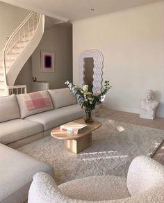 Living Room White, Living Room Decor, Bedroom Decor, Apartment Interior, Apartment Design, Room Interior, Luxury Homes Dream Houses, Aesthetic Room Decor, Dream Home Design