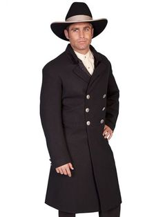 1c8dc6395be Old West Double Breasted Frock Coat Victorian Mens Clothing