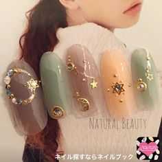 Pin by Jae Kim on 젤네일 디자인 in 2020 3d Nail Art, Nail Art Hacks, Pretty Nail Designs, Nail Art Designs, Love Nails, Pretty Nails, Sky Nails, Sailor Moon Nails, Nailart