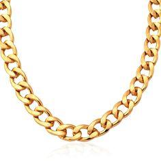 """Men/'s Gold Stainless Steel Curb Chain Bracelet 8.5/"""" et Collier 24/"""" Bijoux Set"""