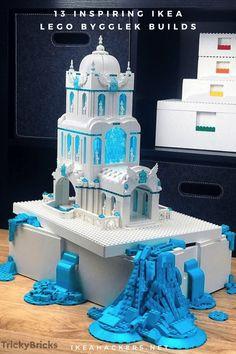 Creative ideas for the IKEA LEGO BYGGLEK boxes. 13 inspiring builds. Lego Storage Boxes, Lego Boxes, Ikea Christmas, Lego Gifts, Ikea Hackers, Tea Box, Level Homes, Lego Pieces, Lego Brick