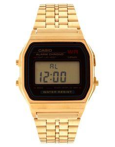Casio A159WGEA-1EF Gold Digital Watch | gifts for her | womens watch | women jewelry | women fashion | womens style | wantering http://www.wantering.com...