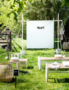 Outdoor movie theater..I'd like to organize this one day