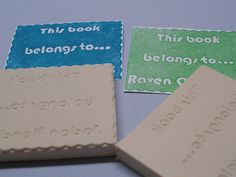Tutorial - personalized book plate stamps!