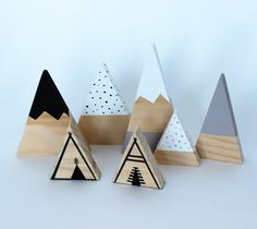 Teepee toy timber wooden ornament creative play by LePetitCadre
