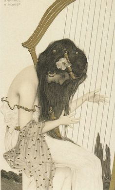 Raphael Kirchner (1876 -1917) was an Austrian artist, principally a portrait painter and illustrator best known for Art Nouveau and early pin-up work, especially in picture postcard format. His work served as an early inspiration to Alberto Vargas.