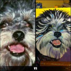 Custom Painted Portrait of Skeeter