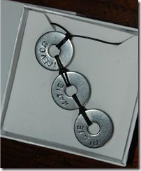 DIY version of stamped washer jewelry.