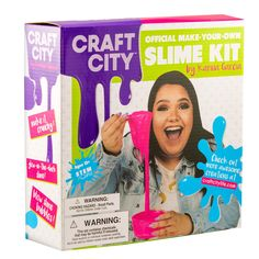 Create your very own custom slime with Karina Garcia's official As Seen On YouTube DIY Slime Kit! The kit Includes tons of add ons to make your slime glow, sparkle, pop, you name it! Use the easy to follow instructions to create slime that is completely customizable. Our high quality ingredients, which are formulated specifically for slime making, are kid friendly and safety tested, for a craft that is fun for all.