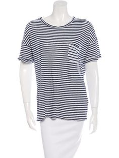 Linen Striped T-Shirt w/ Tags