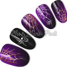 Halloween water slide decals code: C001. Available from www.missmanipedinailart.com