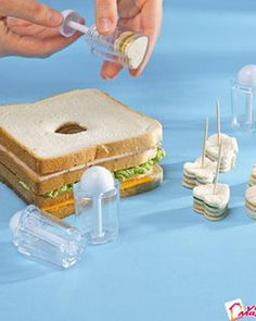So cute sandwich appetizer.